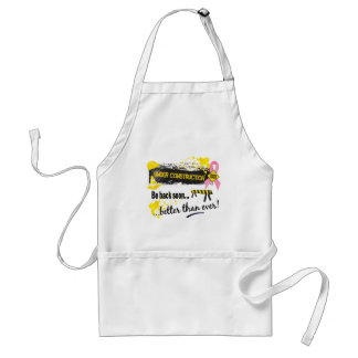 Under Construction Breast Cancer Standard Apron