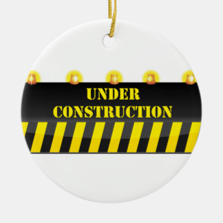 Under Construction Christmas Ornament