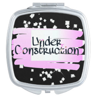 Under Construction Compact Mirror