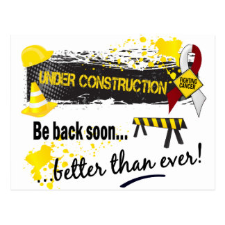Under Construction Head And Neck Cancer Postcard