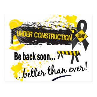 Under Construction Melanoma Postcard