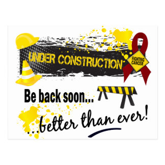 Under Construction Multiple Myeloma Postcard