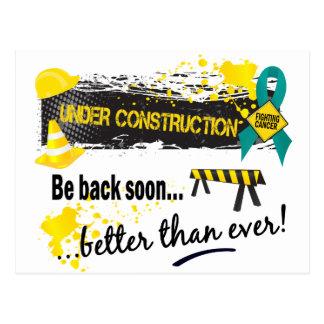 Under Construction Ovarian Cancer Postcard