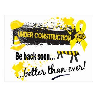 Under Construction Testicular Cancer Postcard