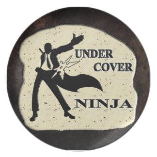 UNDER COVER NINJA DINNER PLATES