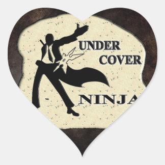 UNDER COVER NINJA HEART STICKER