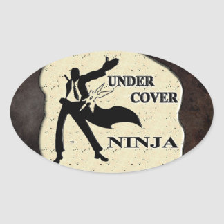UNDER COVER NINJA OVAL STICKER