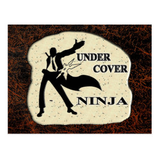 UNDER COVER NINJA POSTCARD