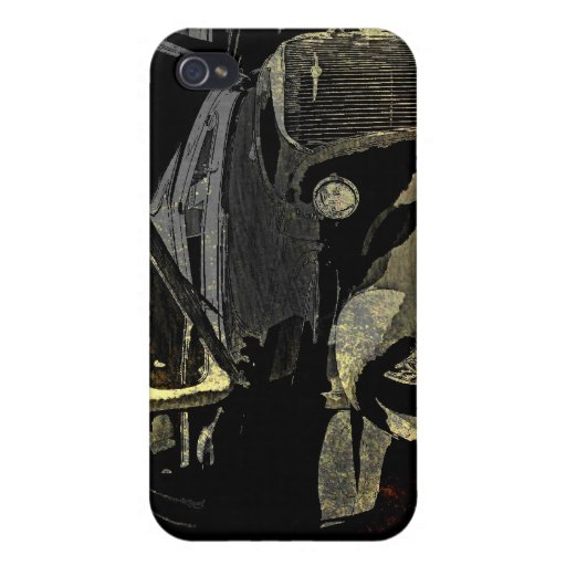 Under Her Hood - Grunge Car Art Cover For iPhone 4