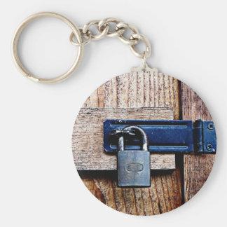 Under Lock and Key Basic Round Button Key Ring
