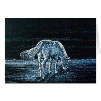 Under Moon Horse Greetings Card
