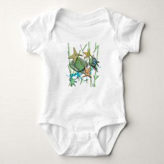 Under more water motif baby bodysuit