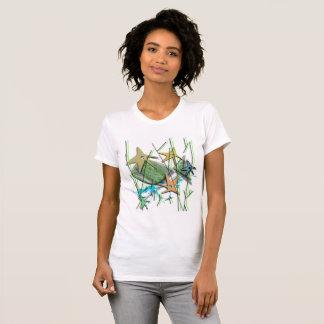 Under more water motif T-Shirt