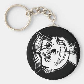 under my skin logo key chain