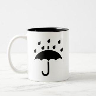 'Under My Umbrella' Pictogram Mug