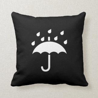 Under My Umbrella Pictogram Throw Pillow Throw Cushion