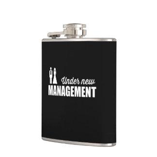 Under New Management Hip Flask