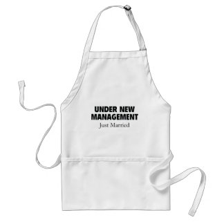 Under New Management. Just Married. Standard Apron