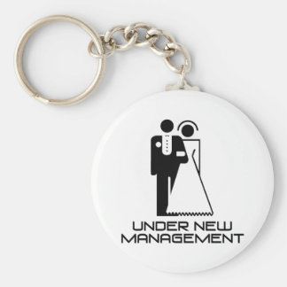 Under New Management Married Basic Round Button Key Ring