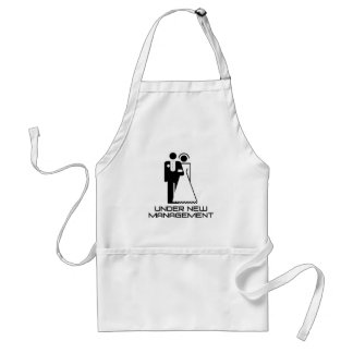 Under New Management Married Standard Apron