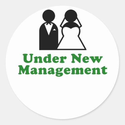 Under New Management Stickers