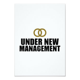 Under New Management Wedding 9 Cm X 13 Cm Invitation Card