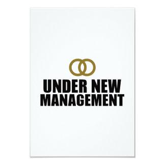 Under New Management Wedding 9 Cm X 13 Cm Invitation Card