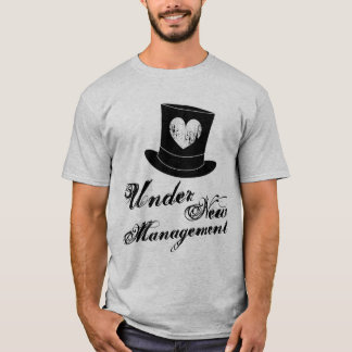 Under new manament t shirt for just married man