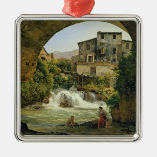 Under the arch of a bridge in Italy, 1822 Christmas Ornament