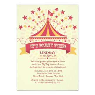 Under the Big Tent Invitation