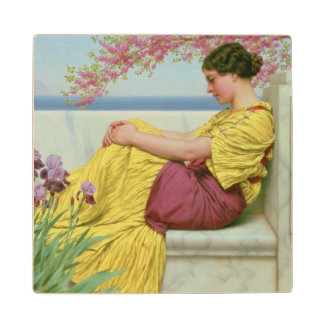 Under the Blossom that Hangs on the Bough, 1917 Wood Coaster