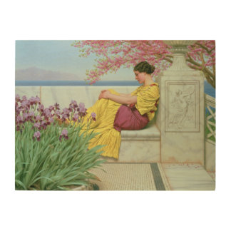 Under the Blossom that Hangs on the Bough, 1917 Wood Wall Art