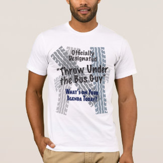 Under the Bus Guy Basic American Apparel T-Shirt