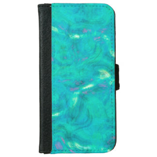 Under the Caribbean Sea Abstract Art iPhone 6 Wallet Case