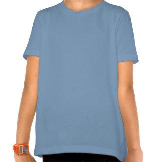 Under the Cherry Blossoms girls ringer wh blue Tshirt