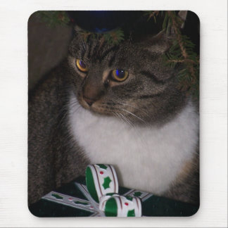 Under The Christmas Tree Cat Mousepad