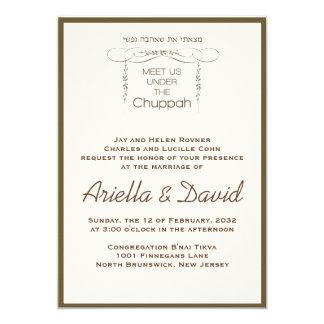 Under the Chuppah - Jewish Wedding Invitation