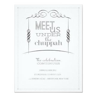 Under the Chuppah Jewish Wedding Reception Card 11 Cm X 14 Cm Invitation Card