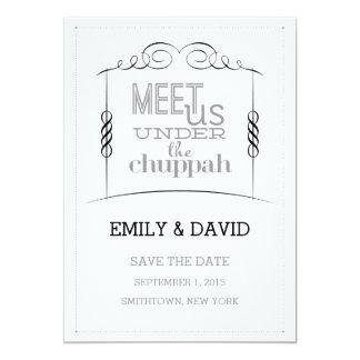 Under the Chuppah Jewish Wedding Save the Date 13 Cm X 18 Cm Invitation Card