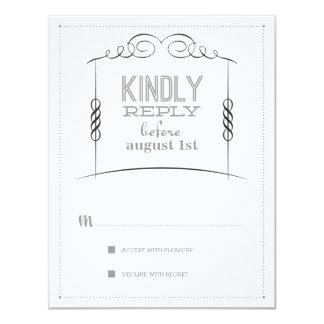 Under the Chuppah Jewish Wedding Suite Reply Card 11 Cm X 14 Cm Invitation Card