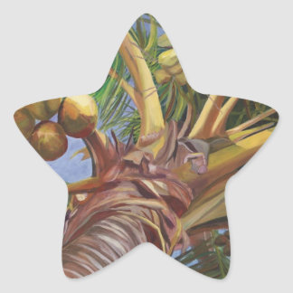 Under the Coconut Tree Star Sticker