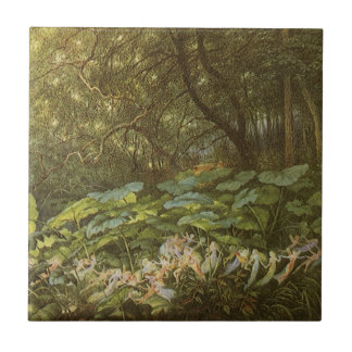 Under the Dock Leaves by Doyle Victorian Fairies Ceramic Tiles