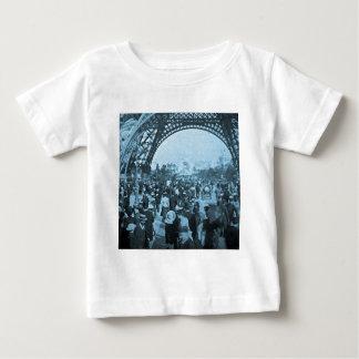 Under the Eiffel Tower 1900 Paris Exposition Cyan T-shirts