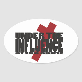 Under the Influence Christian Stickers Cross Gift