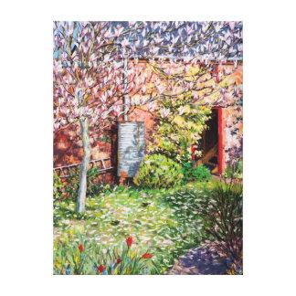 Under the Magnolia Canvas Print