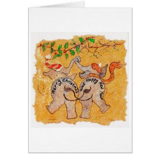 Under the Mistletoe Greeting Card