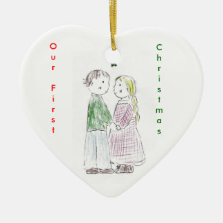 Under_the_Mistletoe, OurFirst, Christmas Christmas Ornament