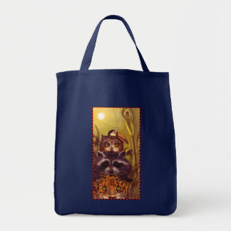 Under the moonlight grocery tote bag