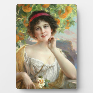 Under the Orange Tree Table Plaque With Easel