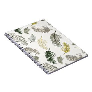 Under the palm trees spiral notebook